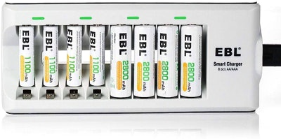 EBL AA & AAA Rechargeable Battery Multipack (With Charger)