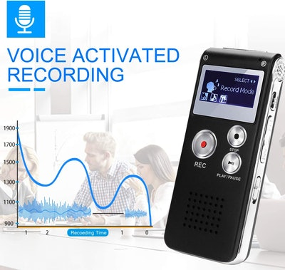KINOEE 8GB Digital Recorder Voice Activated Recorder