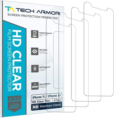 Tech Armor HD Clear Plastic Film Screen Protector