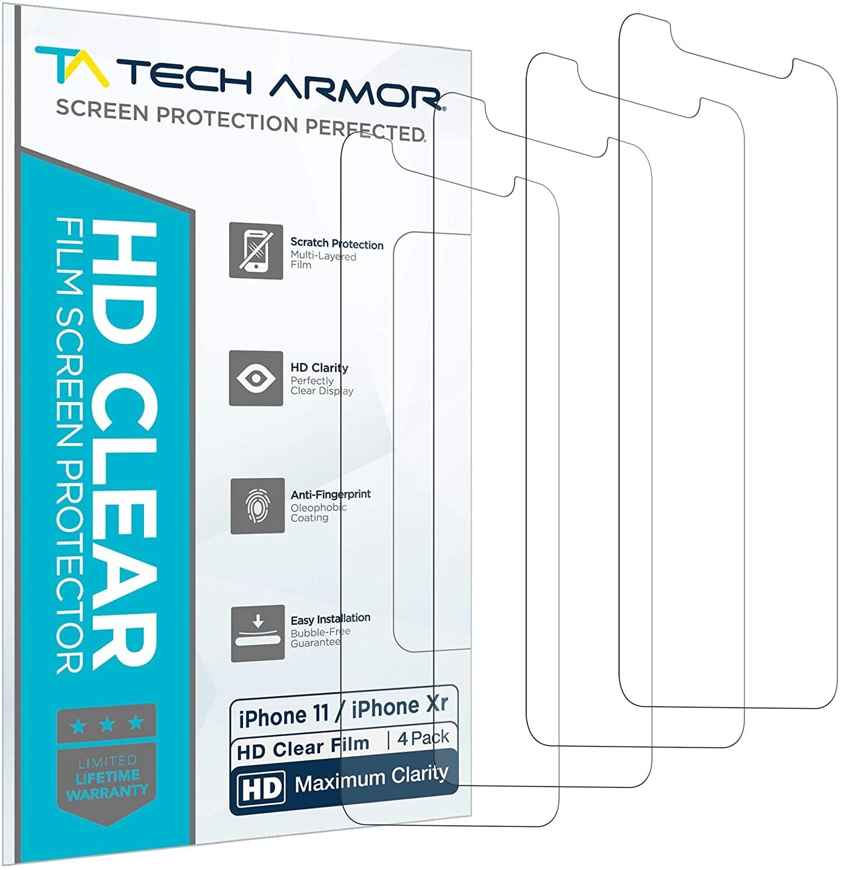 Tech Armor HD Clear Plastic Film Screen Protector