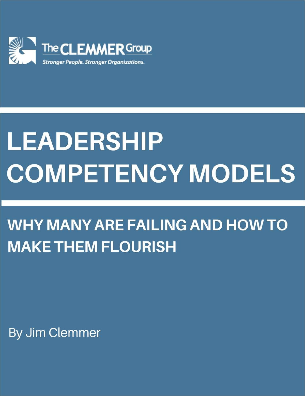 Leadership Competency Models