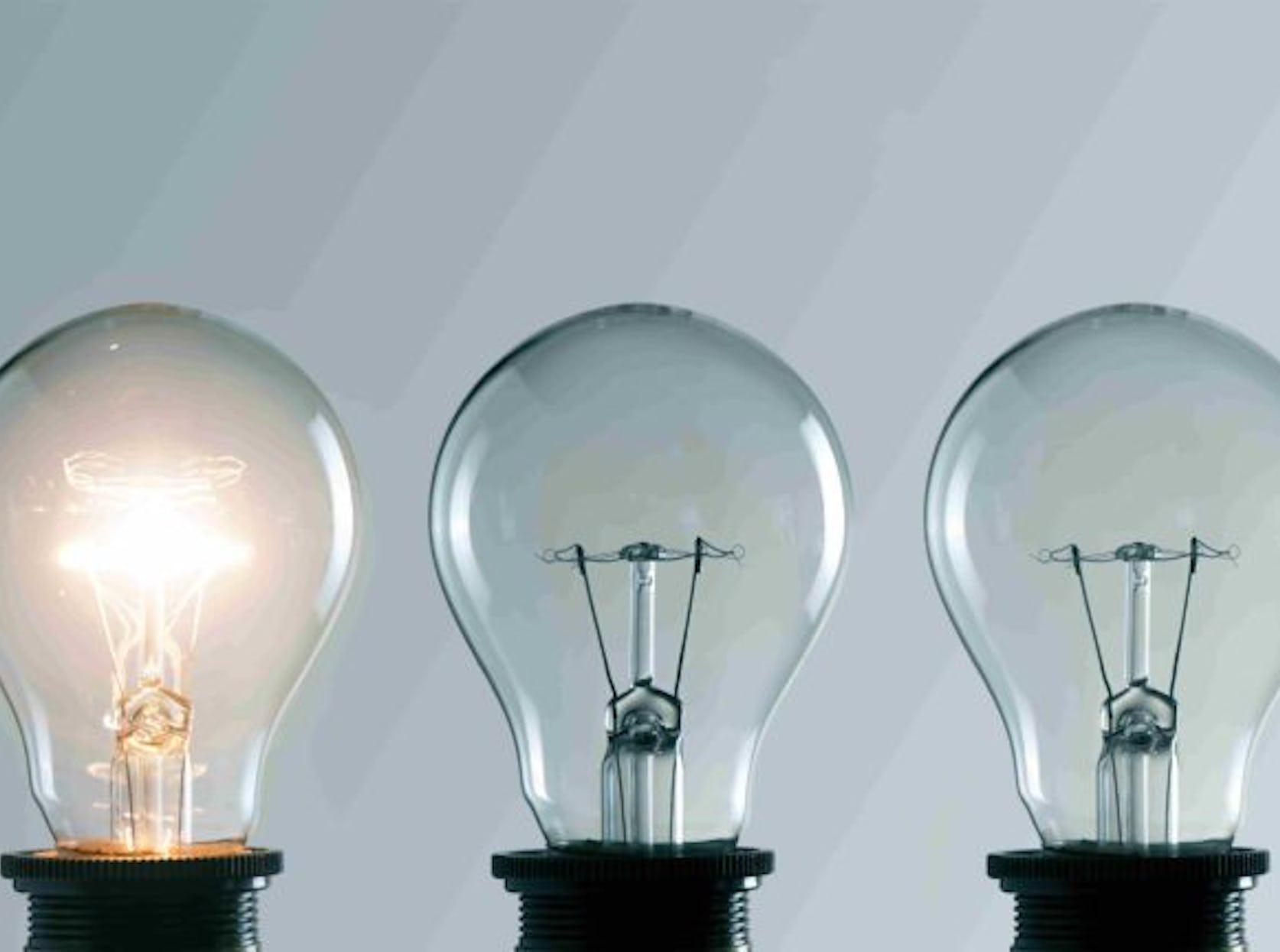 Ampoules allumée et éteintes