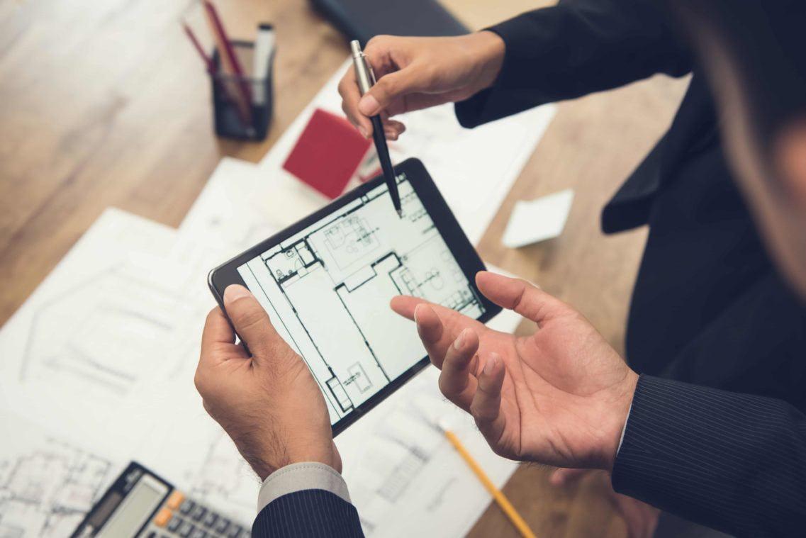 plan travaux sur tablette