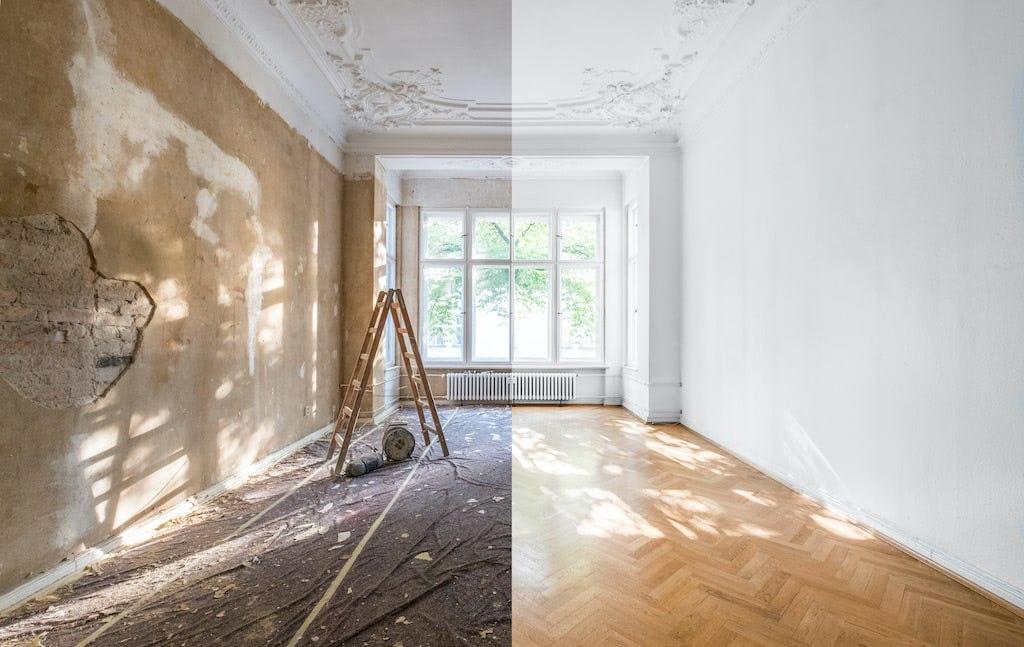 avant apres renovation appartement