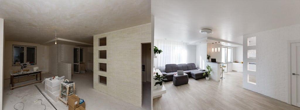 avant apres renovation maison