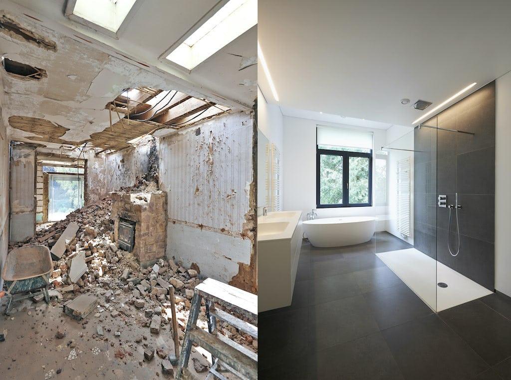 avant apres renovation salle de bain