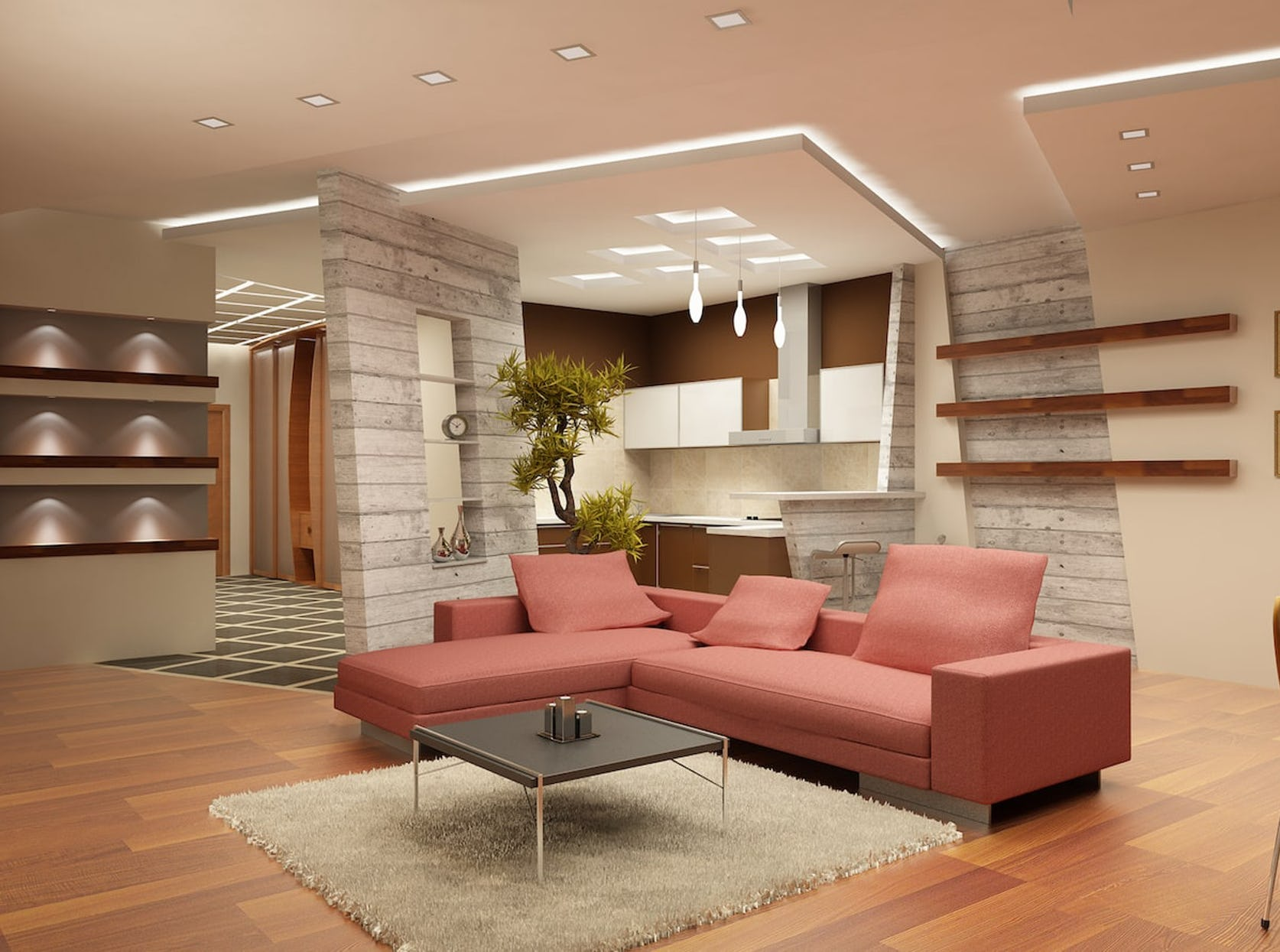 Faux plafond élément décoratif