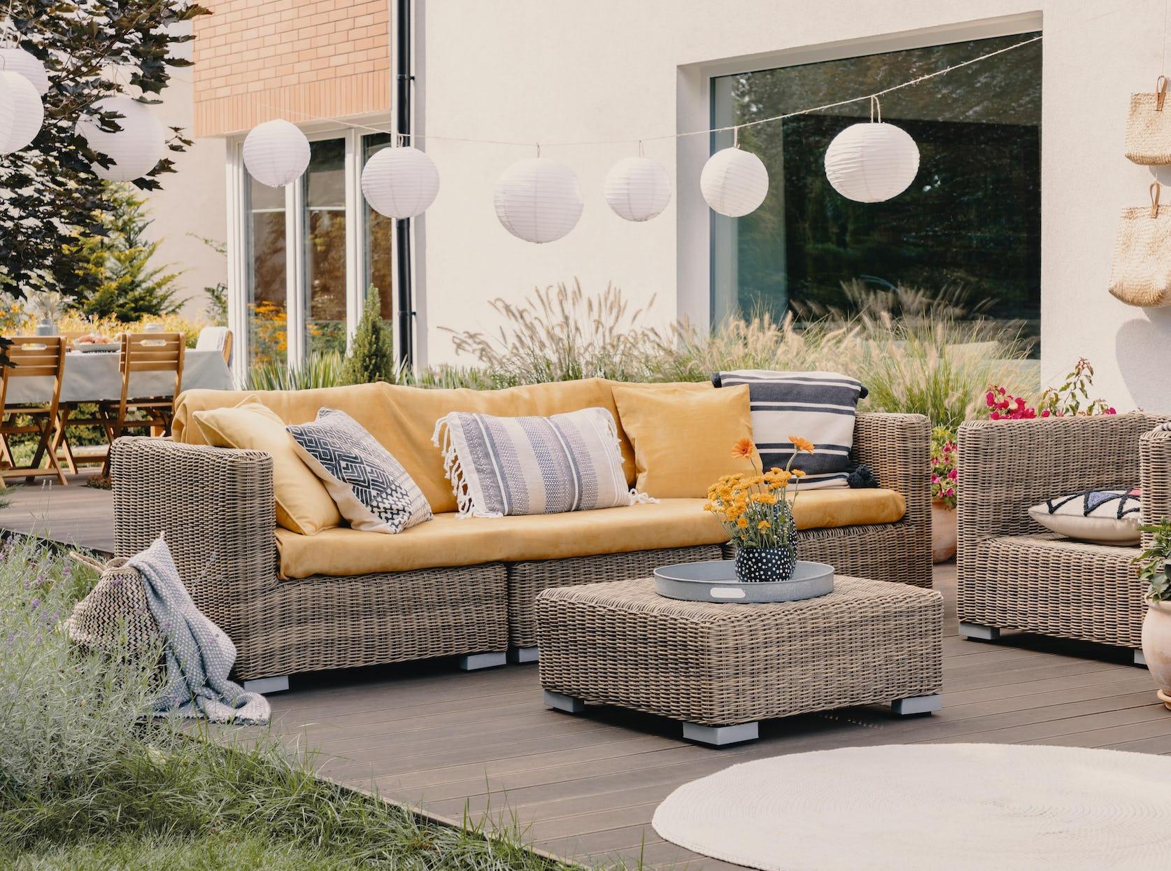 mobilier de jardin confortable