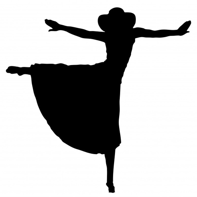 1551239272 woman dancing silhouette clipart