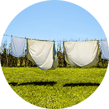 Drying clothes outside is one way to reduce moisture inside your home.