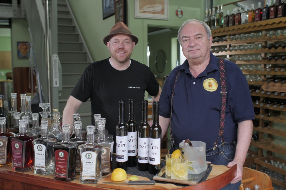 New Zealand first: Te Rā solar powered gin made in Puhoi