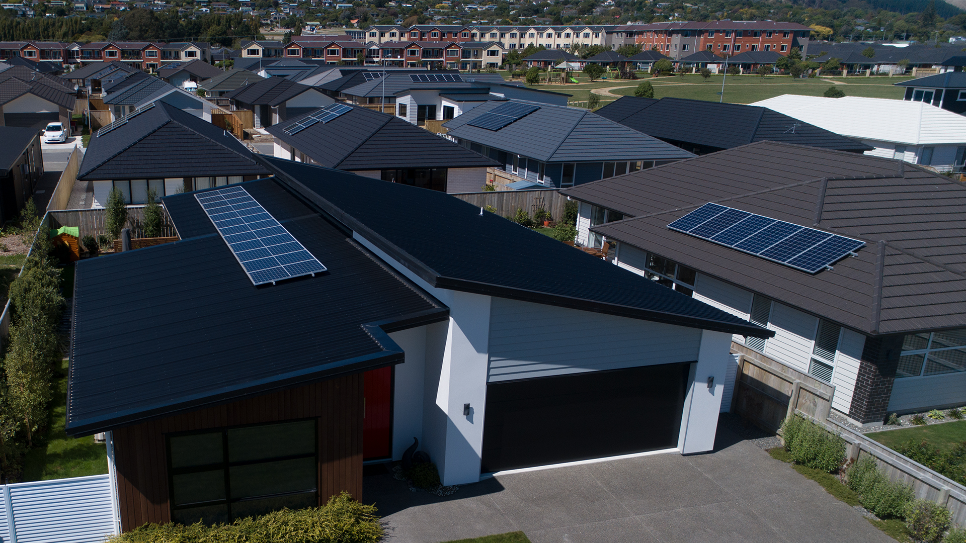 A solar-powered neighbourhood.