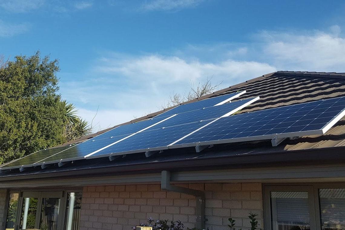 solarZero panels installed on Noeline Marsh and Greg Milne's home