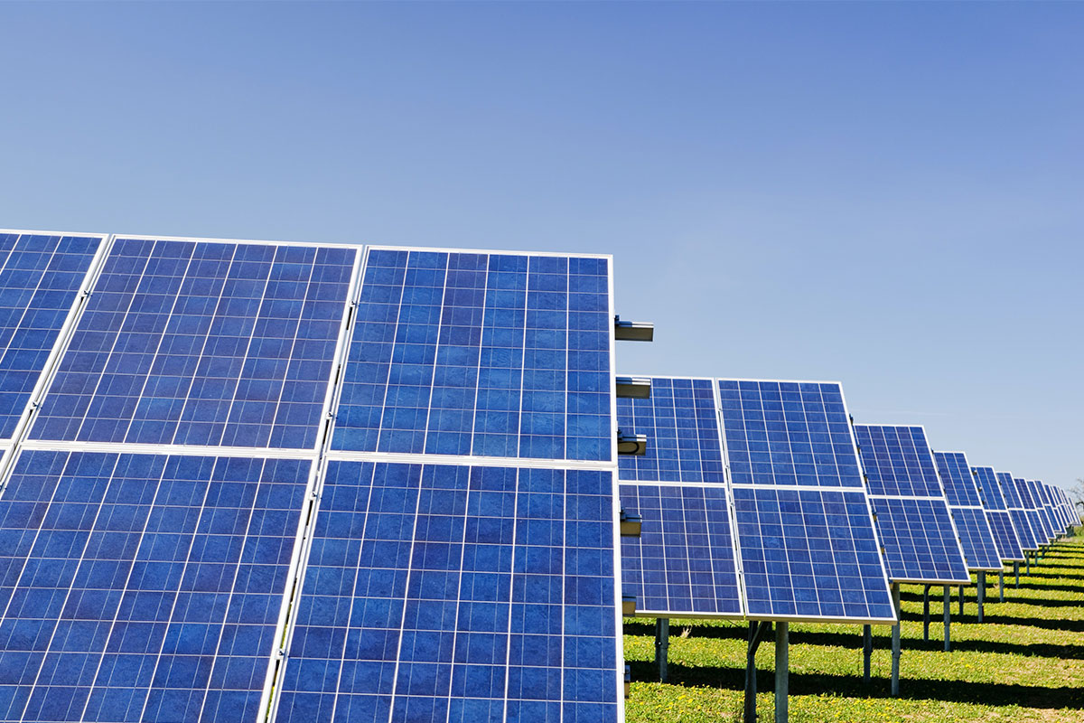 Solar panels converting energy from the sun into energy to power your home.