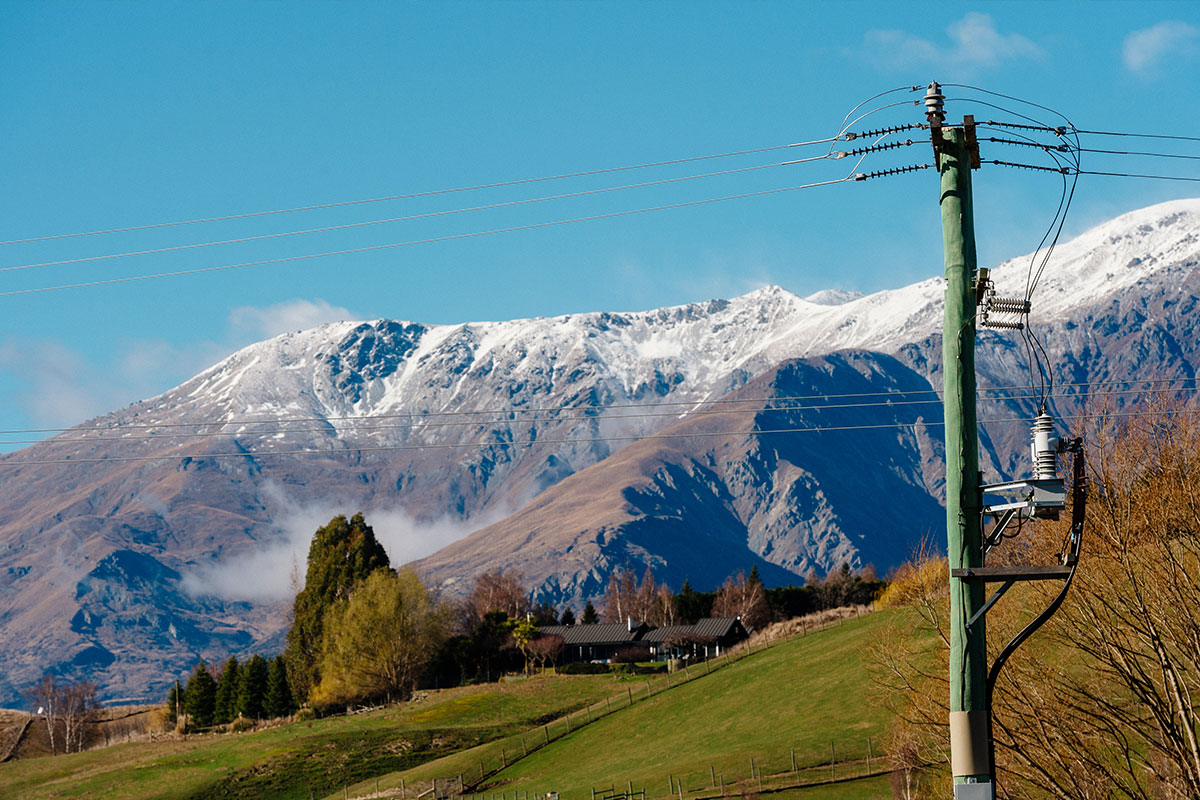 Aurora Energy Network in the Upper Clutha Area