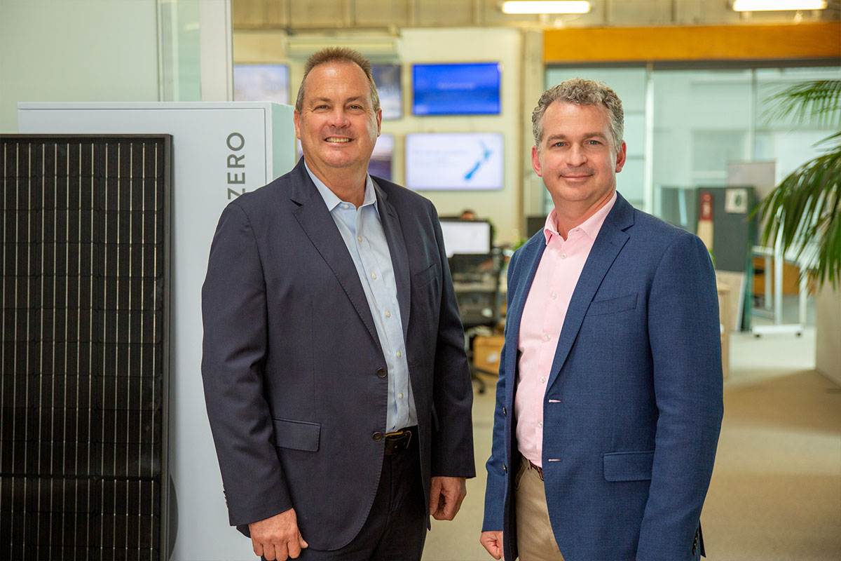 Neil Cowie, solarZero CEO and Craig Weise, NZGIF Chief Executive