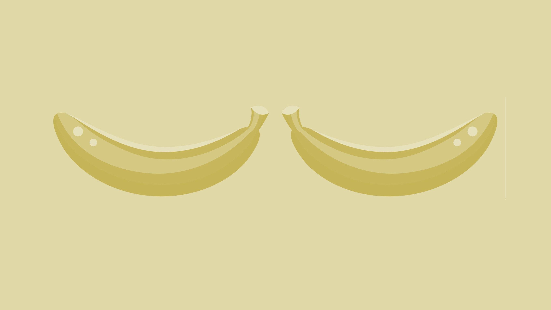 Illustration of two bananas