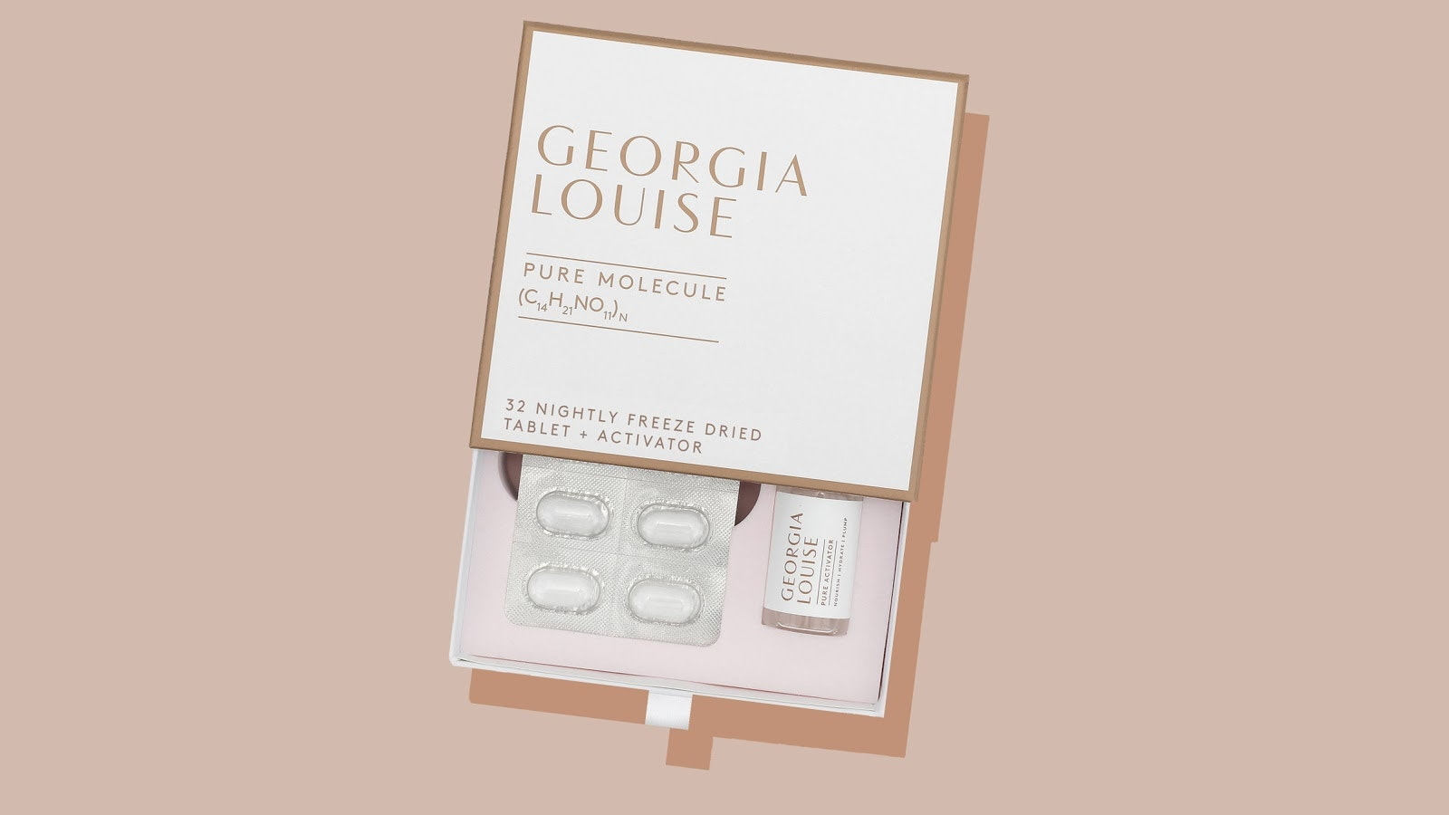 "Celebrity Facialist Georgia Louise Just Launched a 100 Percent Pure, Topical ""Skincare Tablet"""