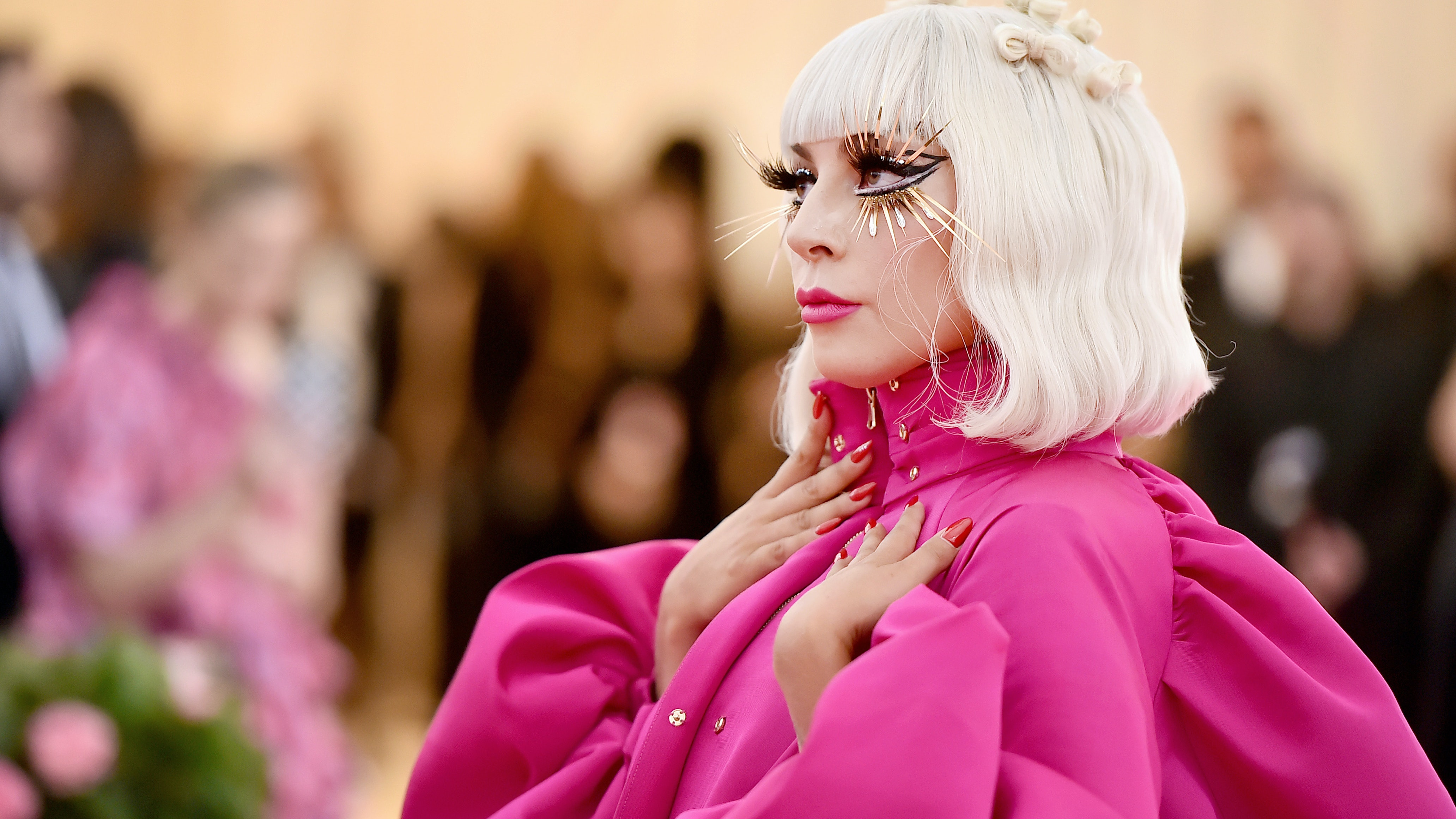 """Lady Gaga Just Upgraded Her Iconic """"Hair Bow"""" For the Met Gala Red Carpet"""