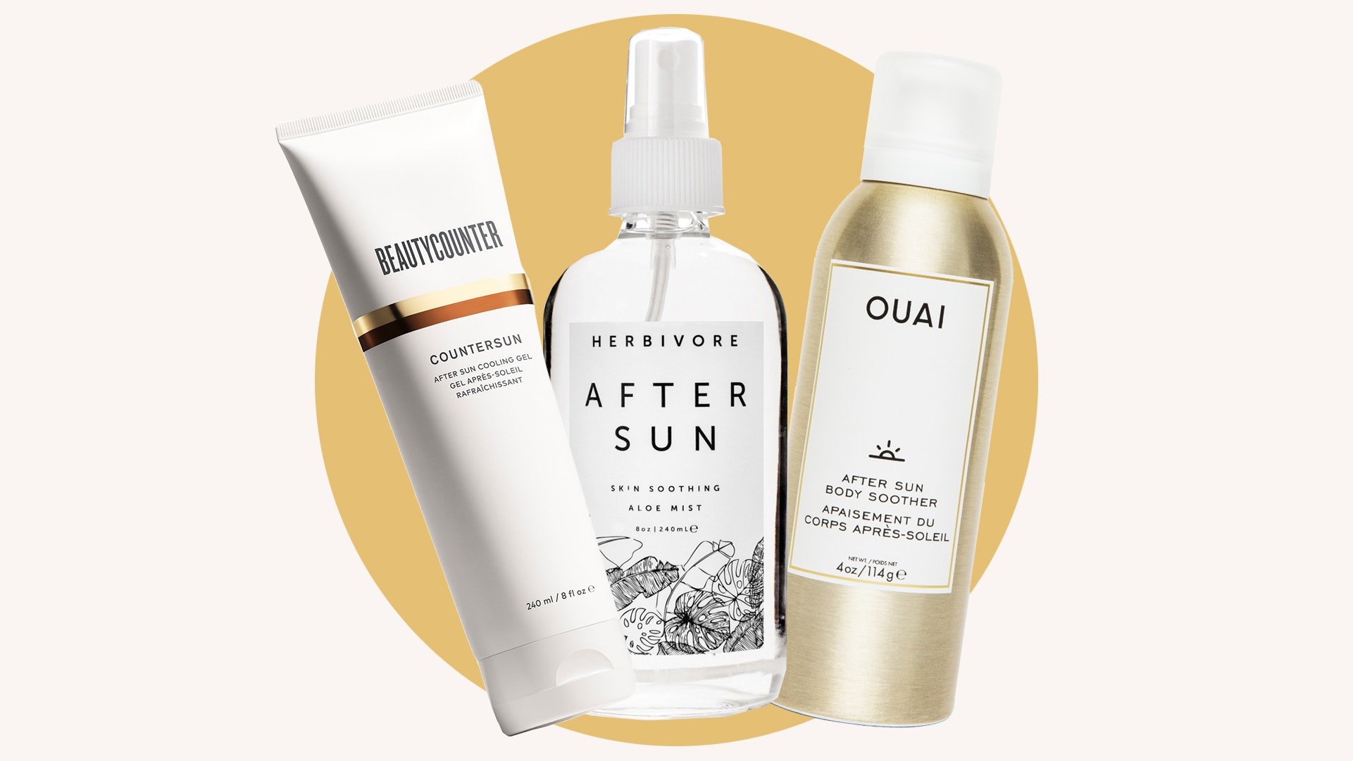 Chic after-sun products
