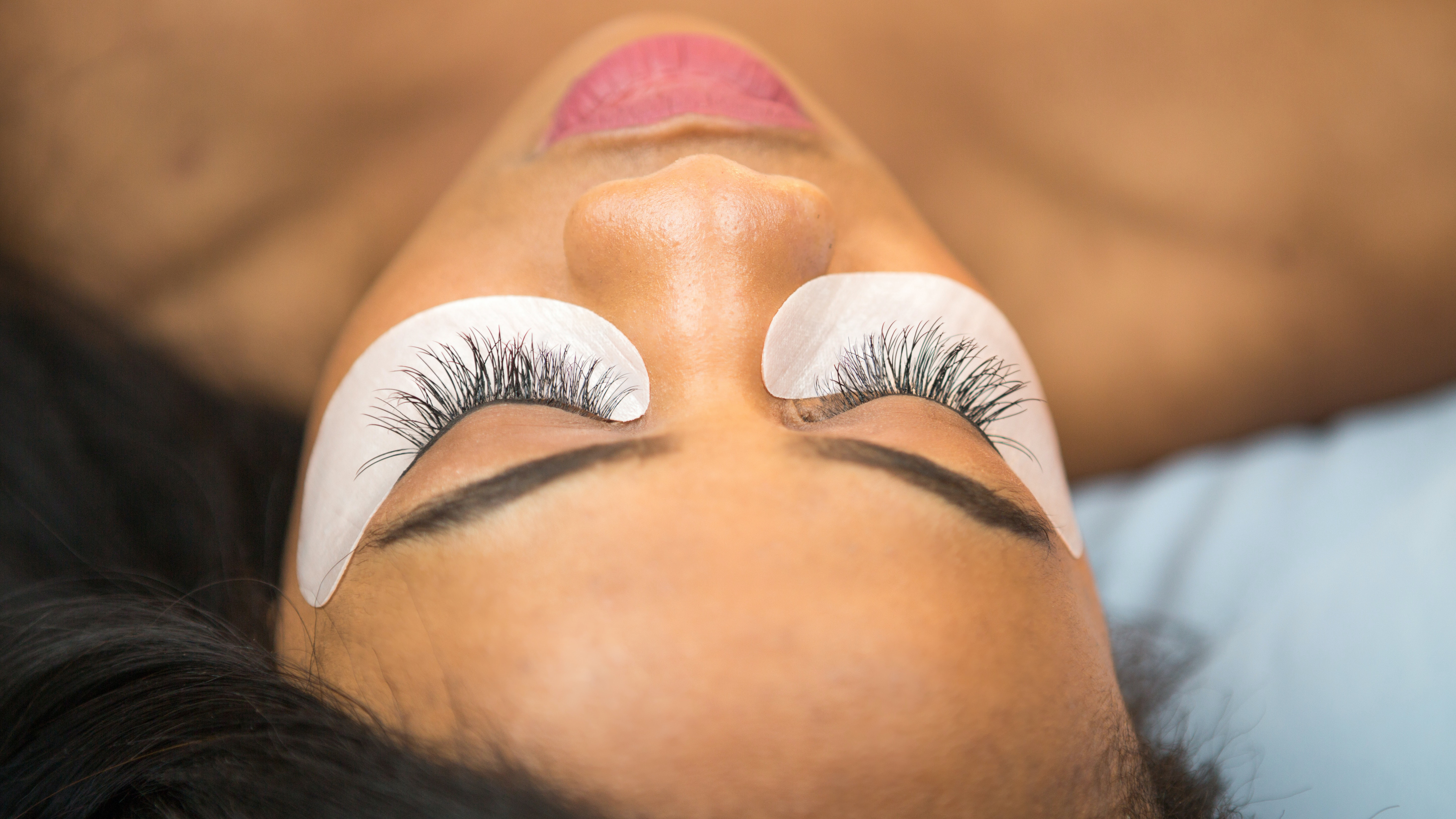 Closeup Of An African-American Woman With Eyelash Extensions
