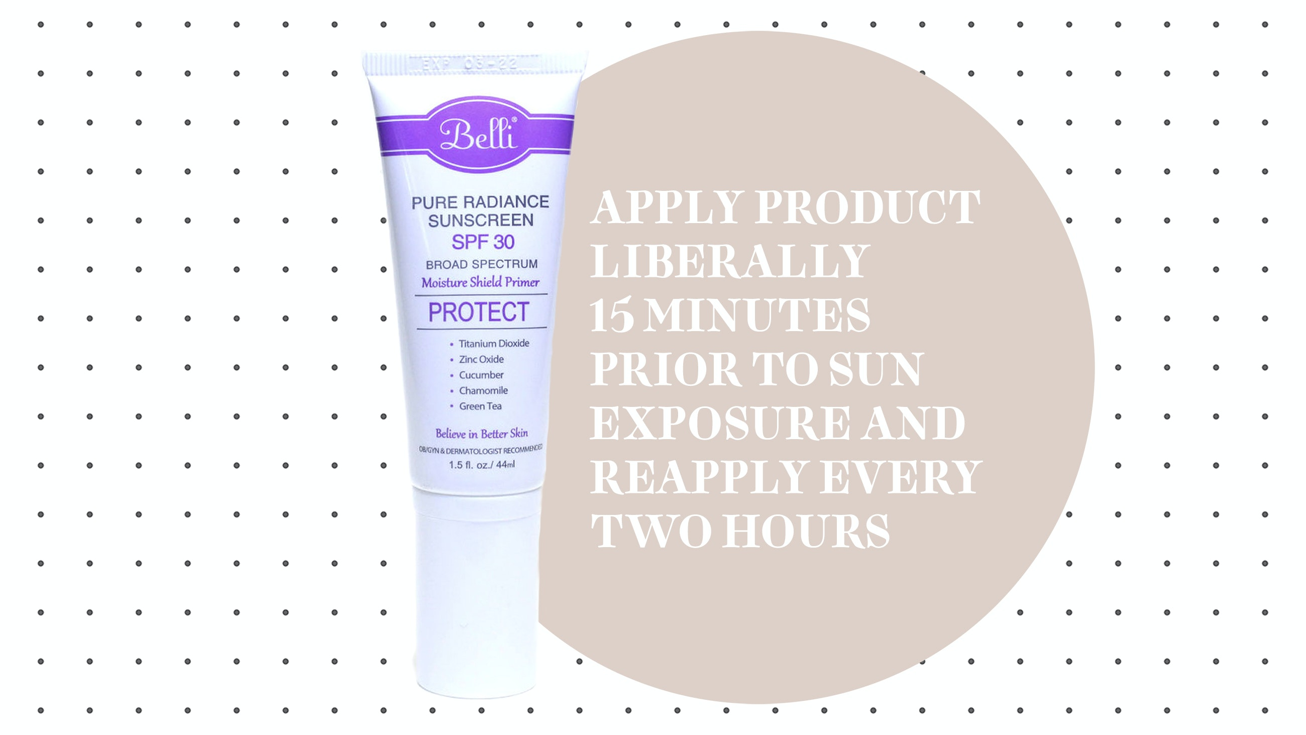 Belli Pure Radiance Sunscreen SPF 30
