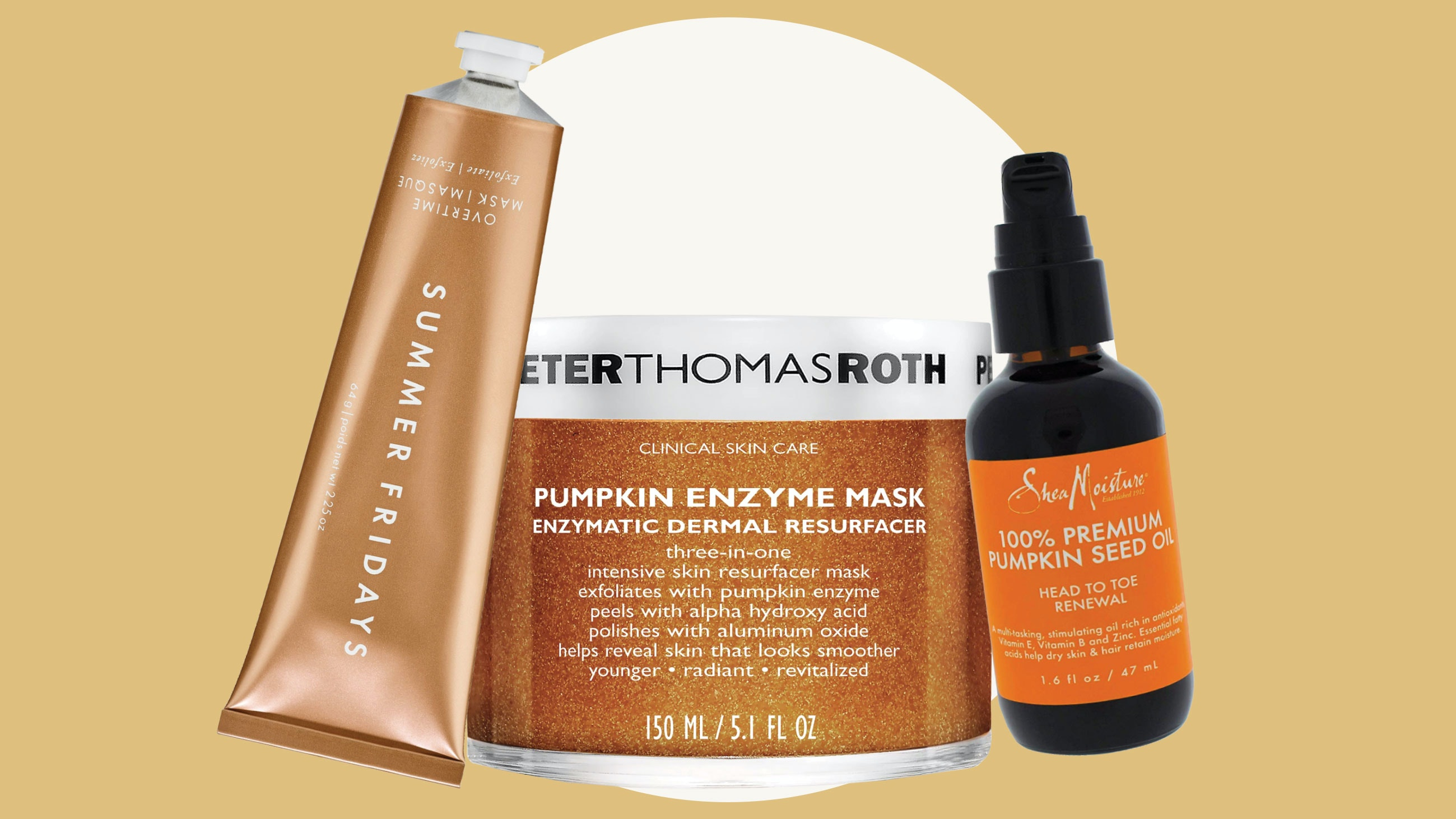 Pumpkin Ingredient Beauty Products
