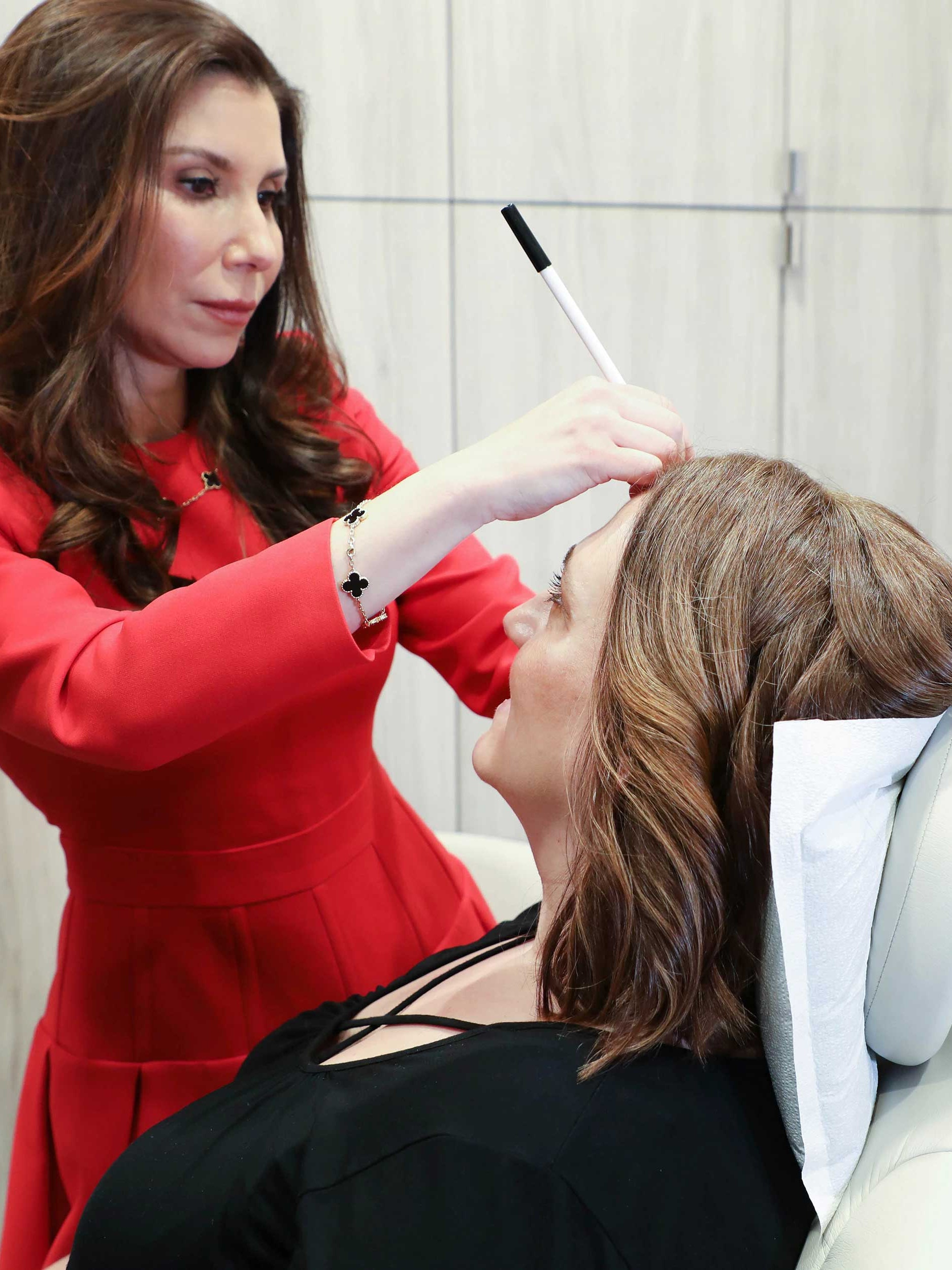 Planning for an injectable wrinkle reducer treatment with Dr. Jennifer Levine