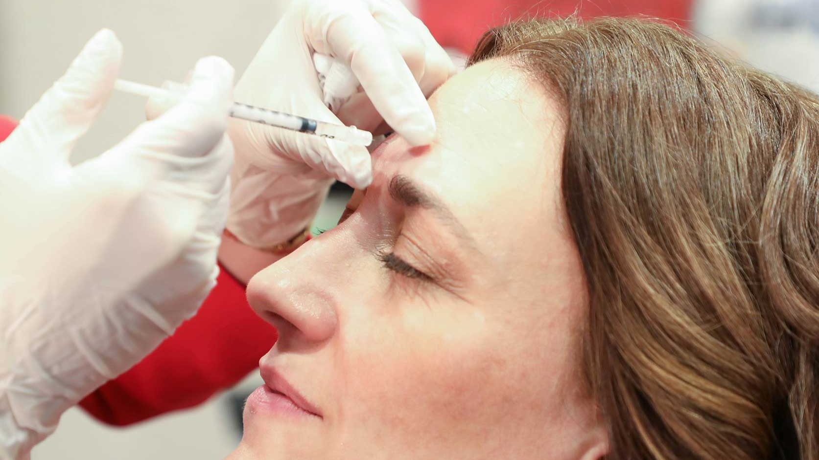 Maura has an injectable wrinkle reducer treatment.