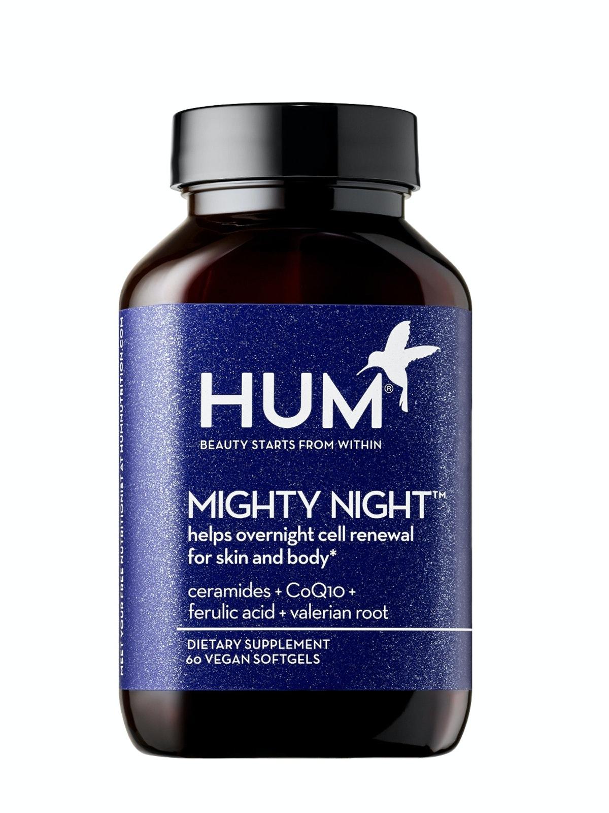 HUM Nutrition Mighty Night Overnight Renewal Supplement