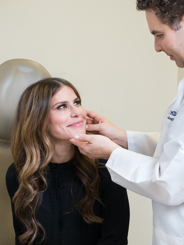 Dr. Zeichner looking at the Derm Wife