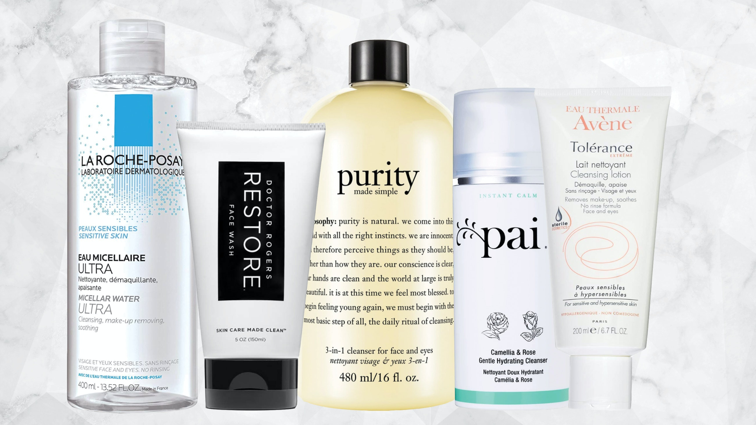 Derm recommended face washes for sensitive skin