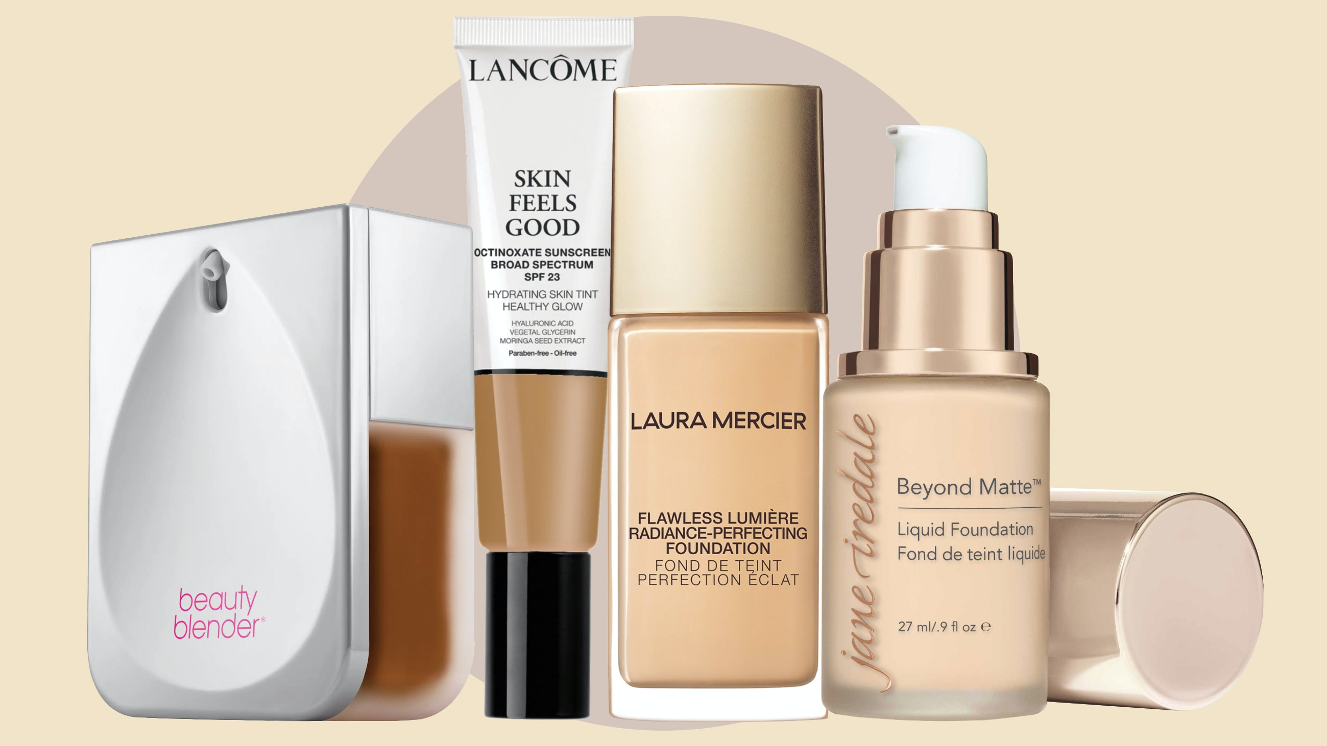Foundations with hyaluronic acid