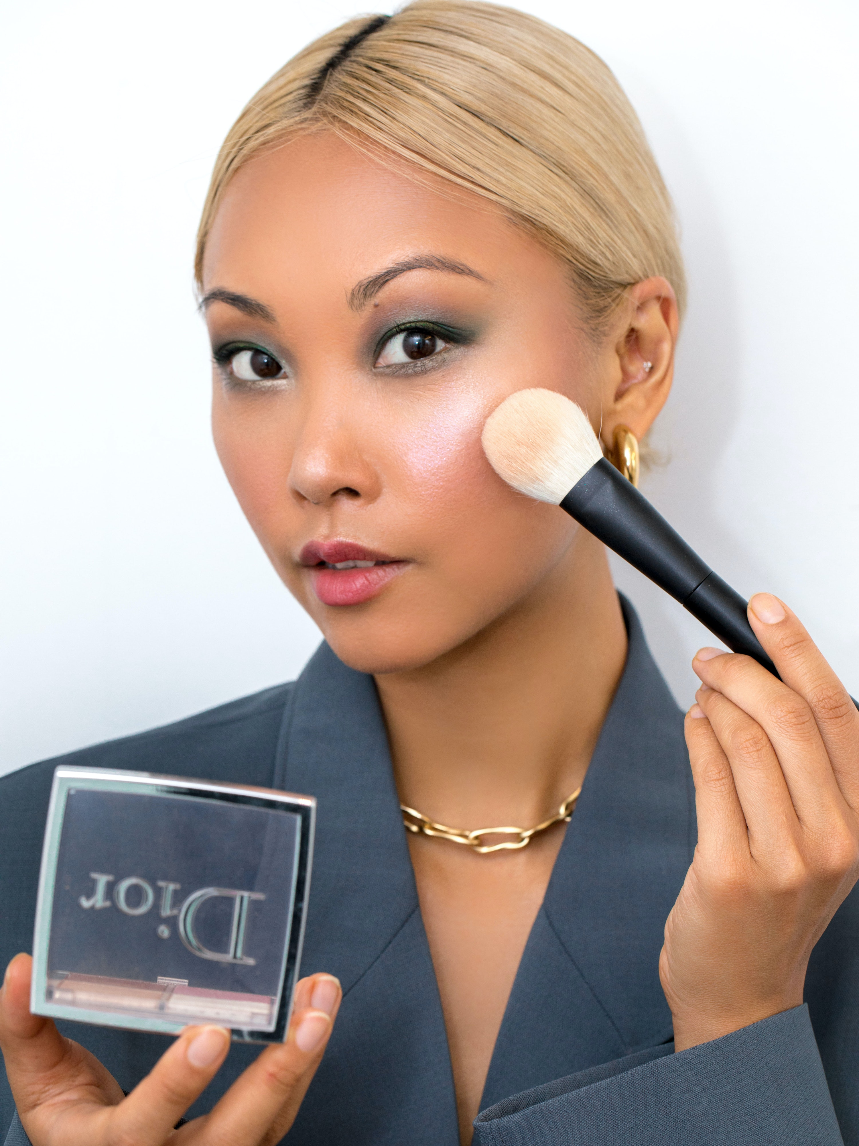 Vanessa Hong applying Dior makeup