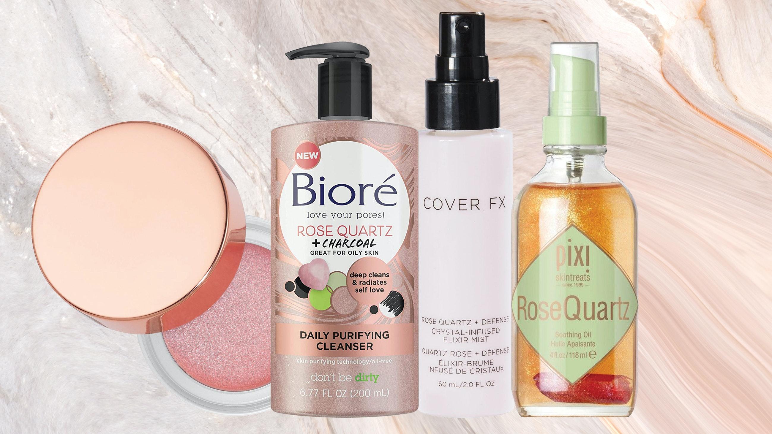 Rose quartz beauty products