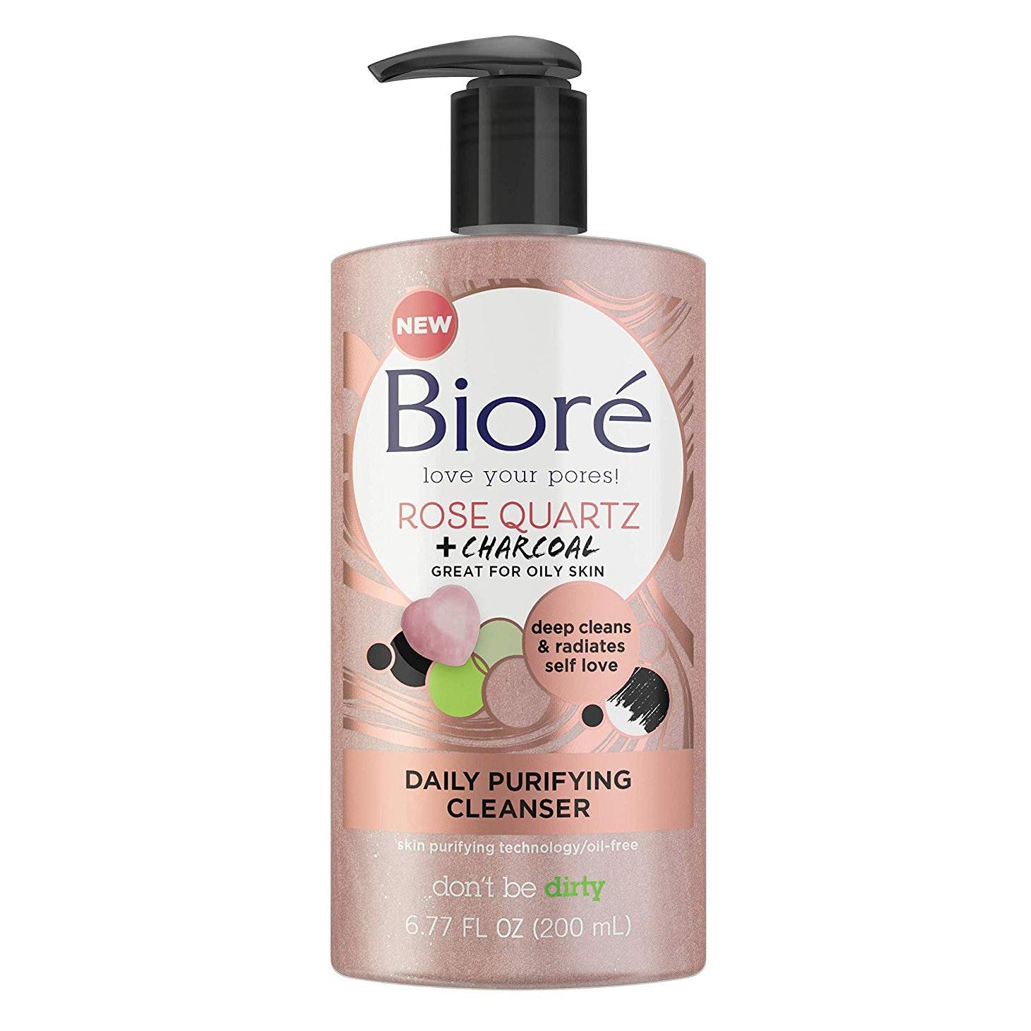 Bioré® Rose Quartz + Charcoal Daily Purifying Cleanser