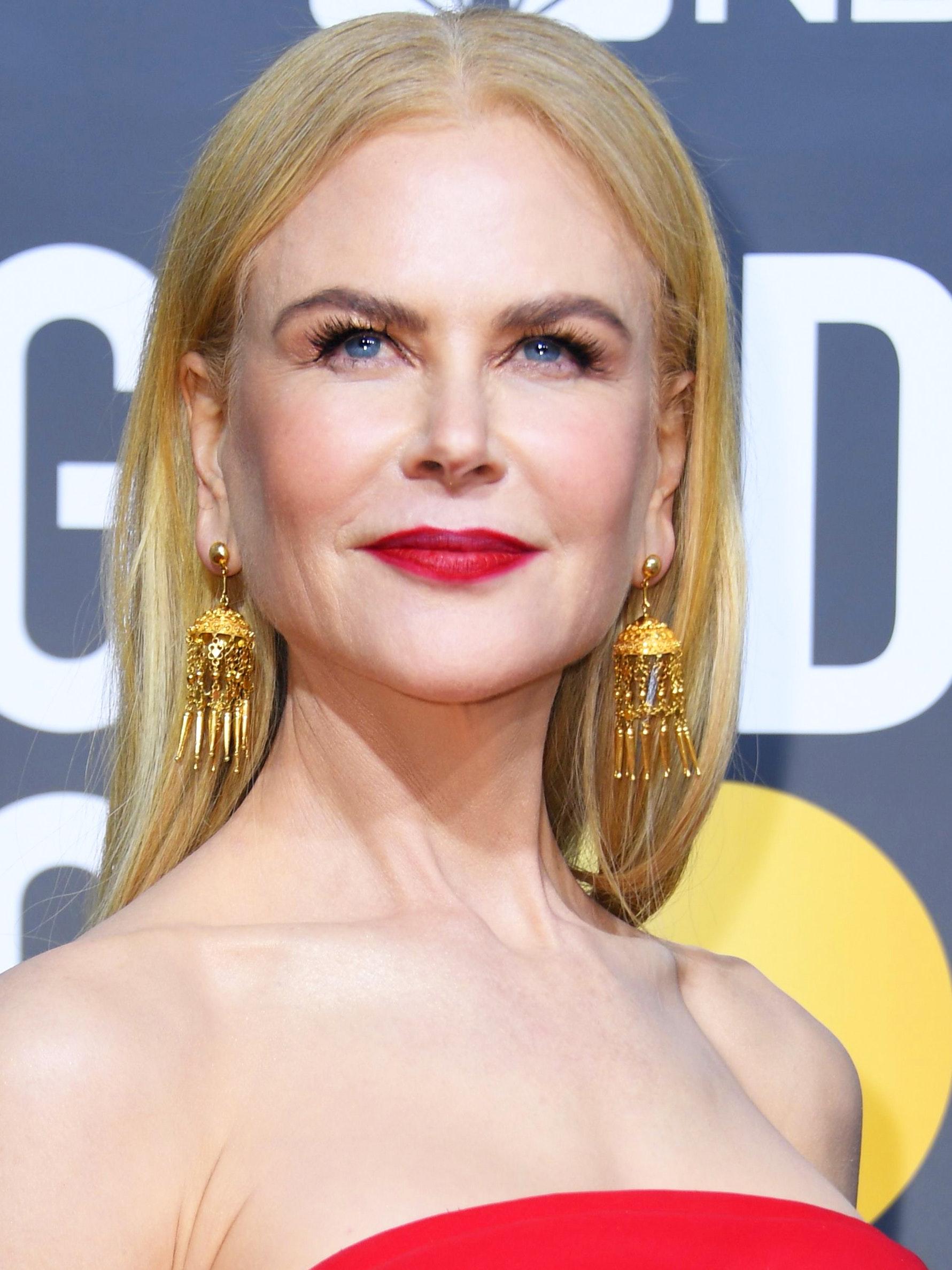 Nicole Kidman Golden Globes 2020 beauty hair look