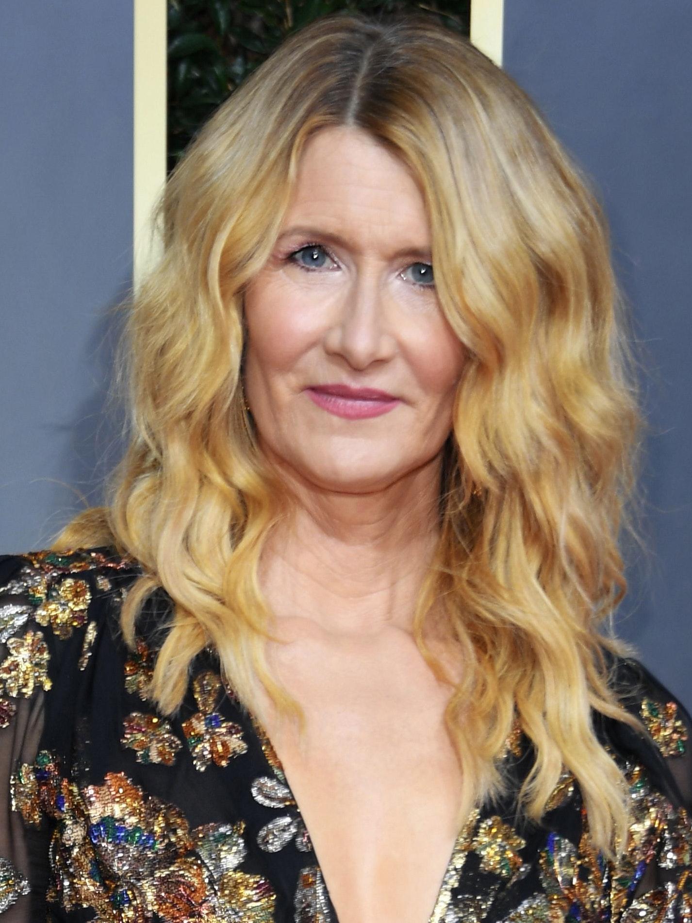 Laura Dern 2020 Golden Globes beauty makeup hair look