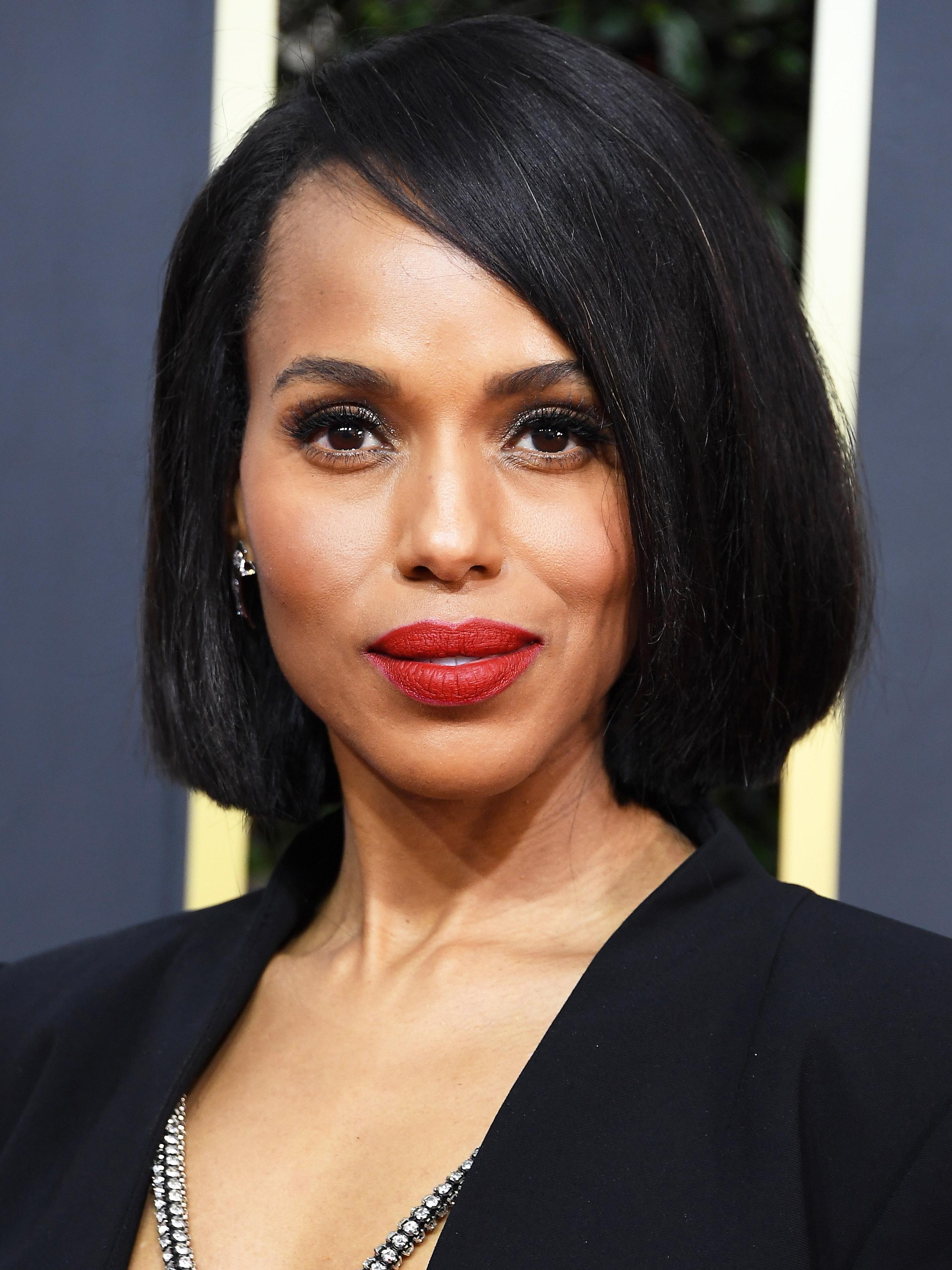Kerry Washington Golden Globes beauty look 2020