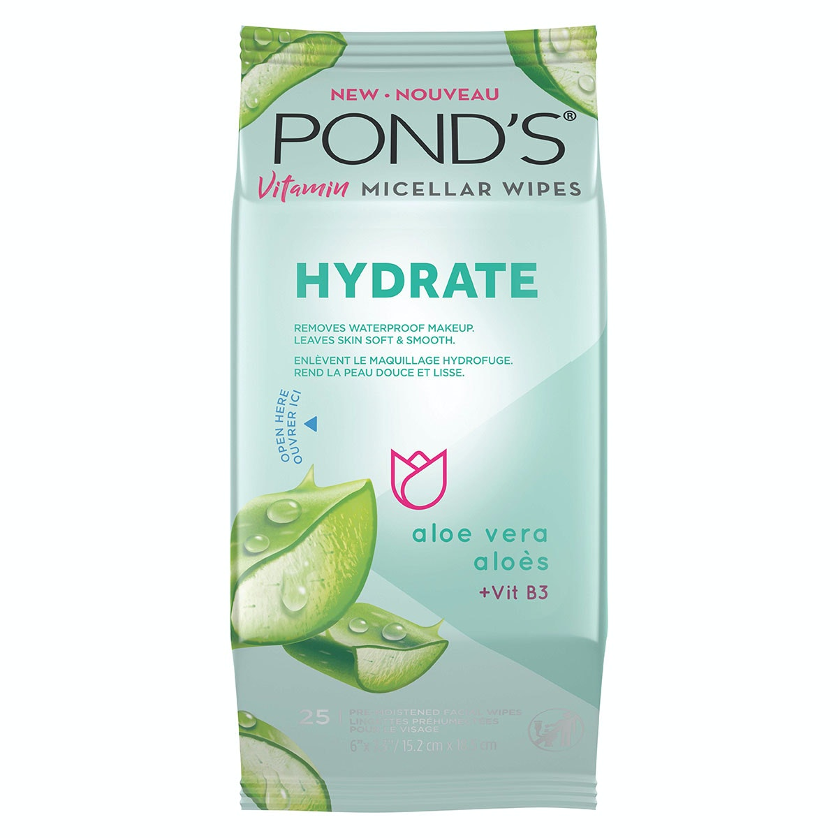 Pond's® Vitamin Micellar Wipes Hydrate