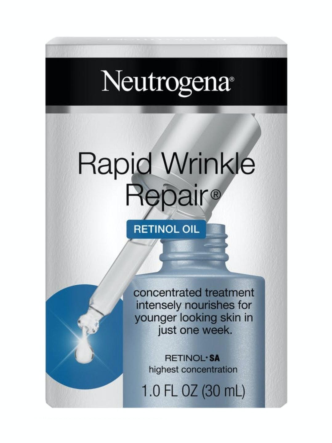 Neutrogena rapid wrinkle repair retinol oil review
