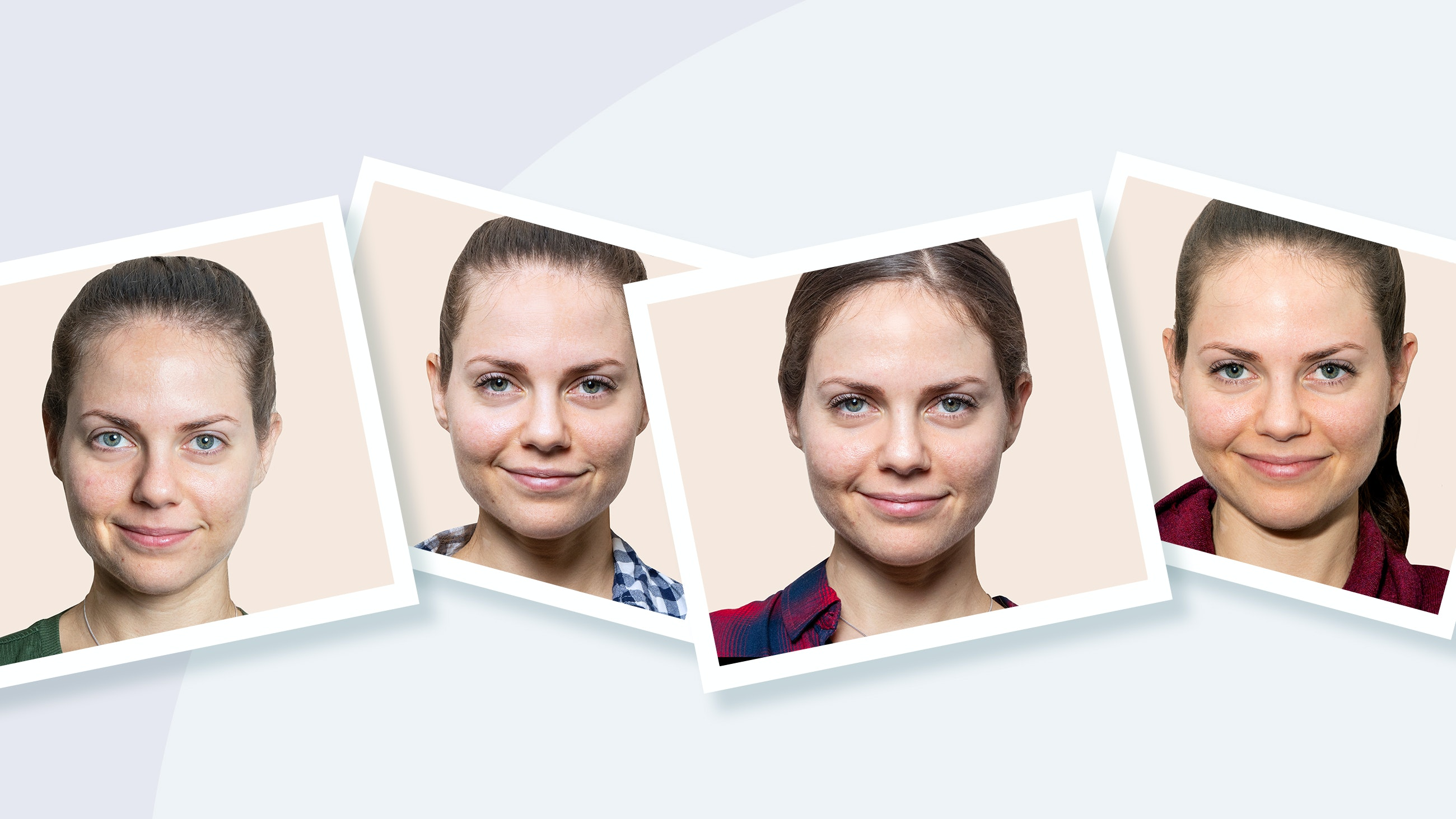 woman no makeup challenge for 30 days
