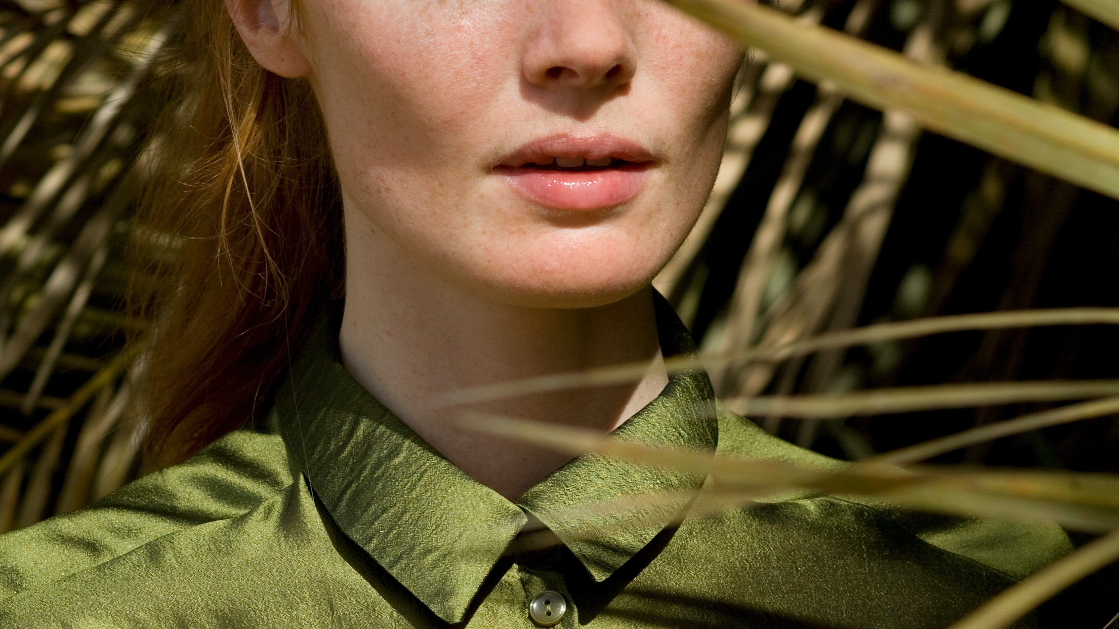 chlorophyll benefits skin care woman in green