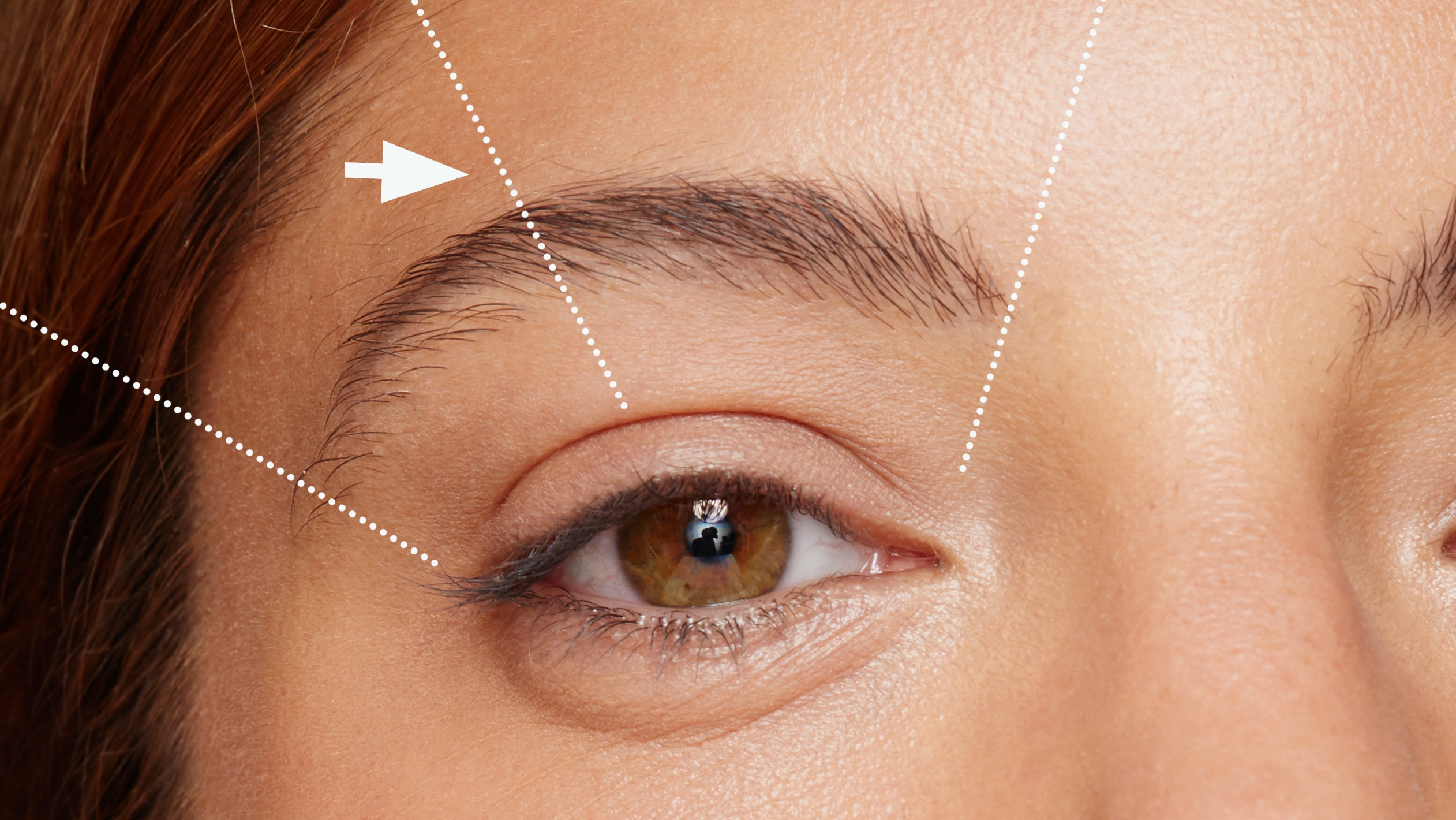 how to shape eyebrows at home two-thirds rule
