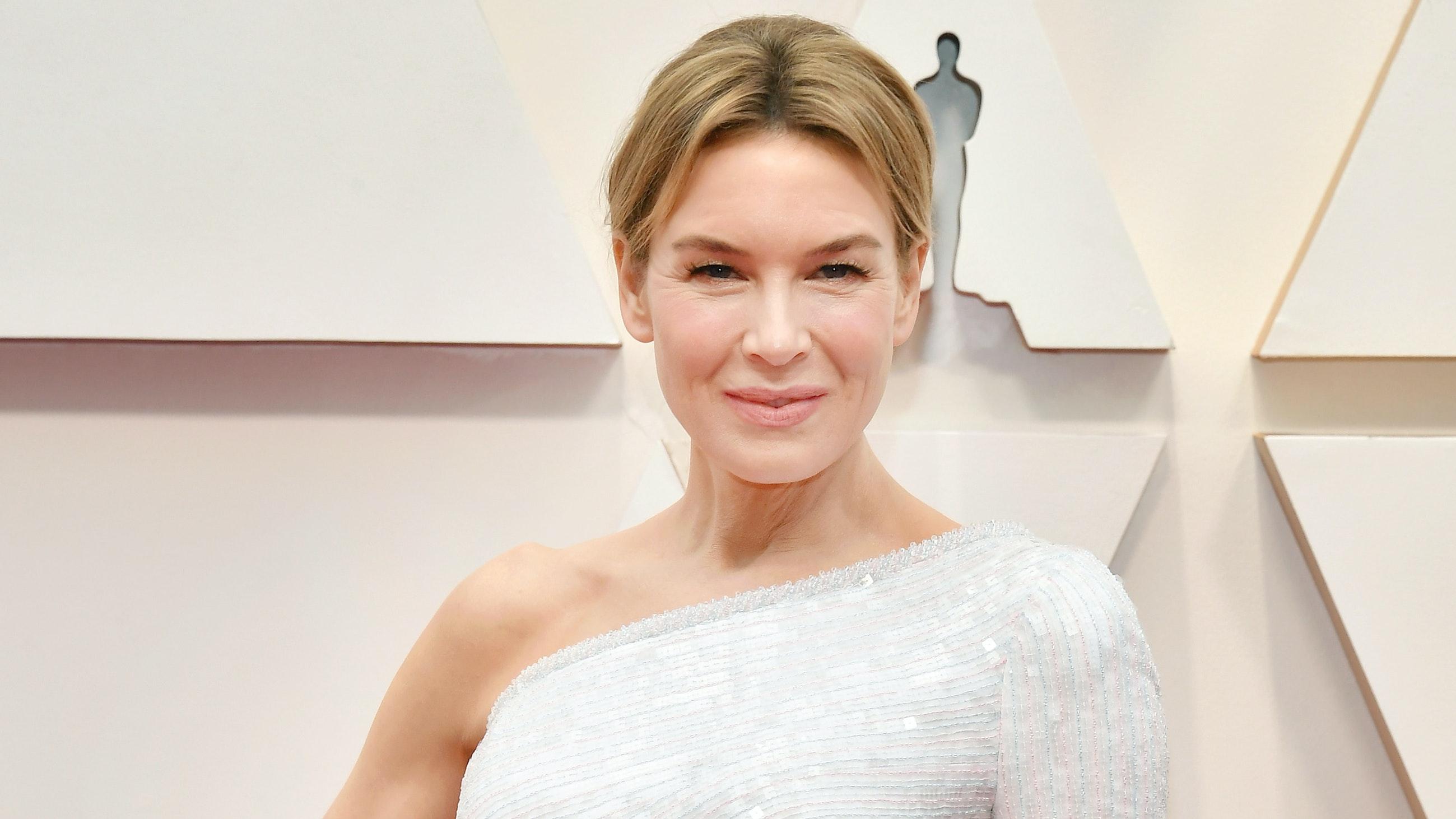 Renée Zellweger's hair and makeup at the 2020 Oscars