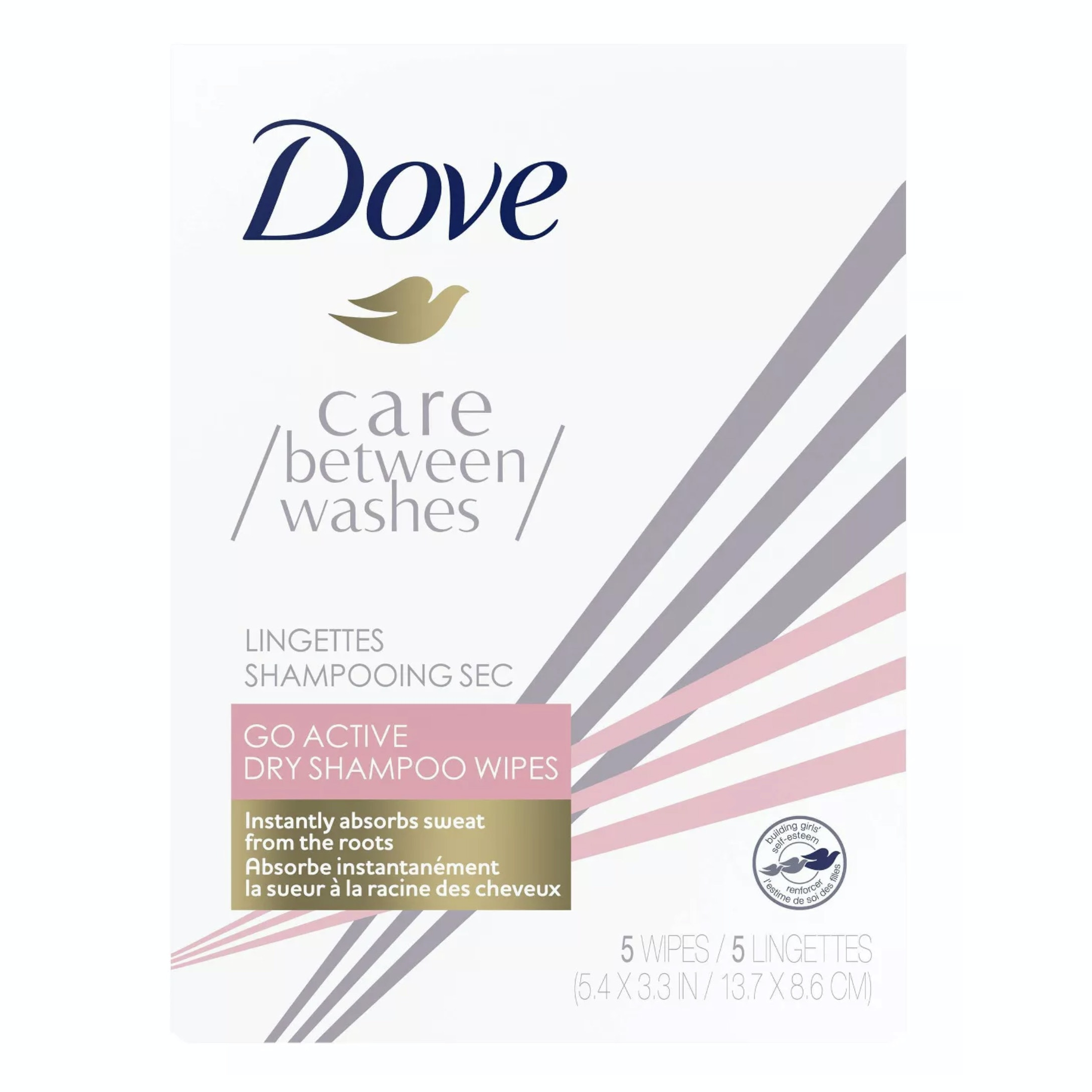 Dove® Care Between Washes™ Go Active Dry Shampoo Hair Wipes