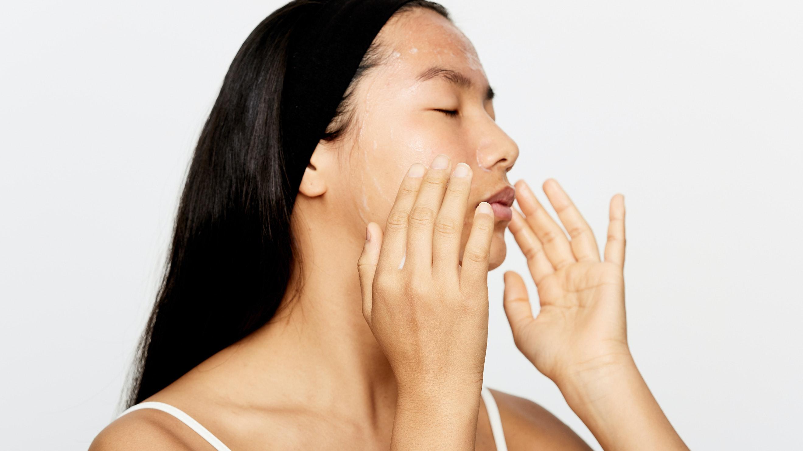 woman taking care of skin after laser skin resurfacing