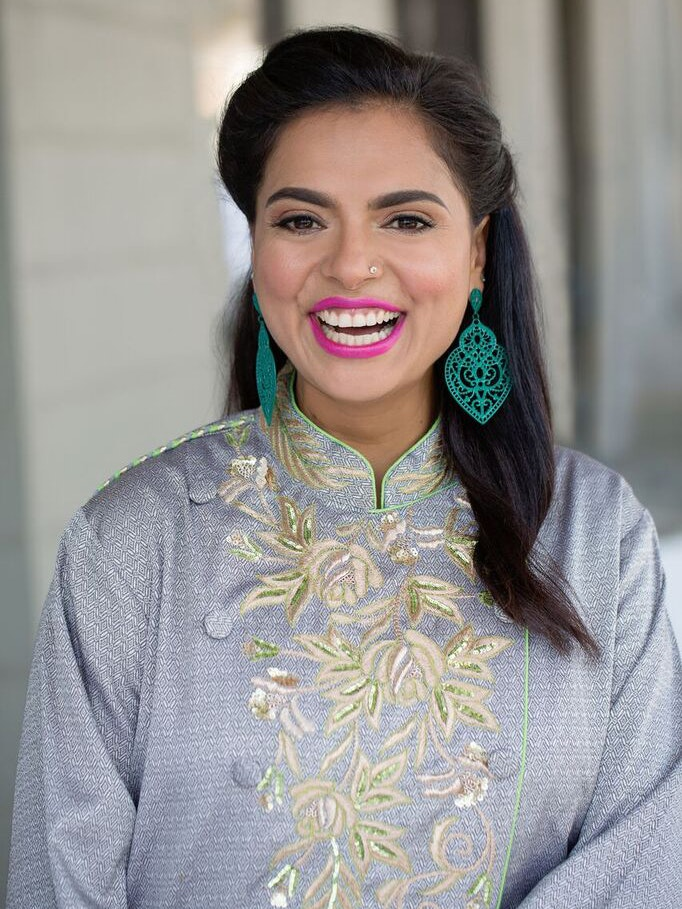 Maneet Chauhan laughing