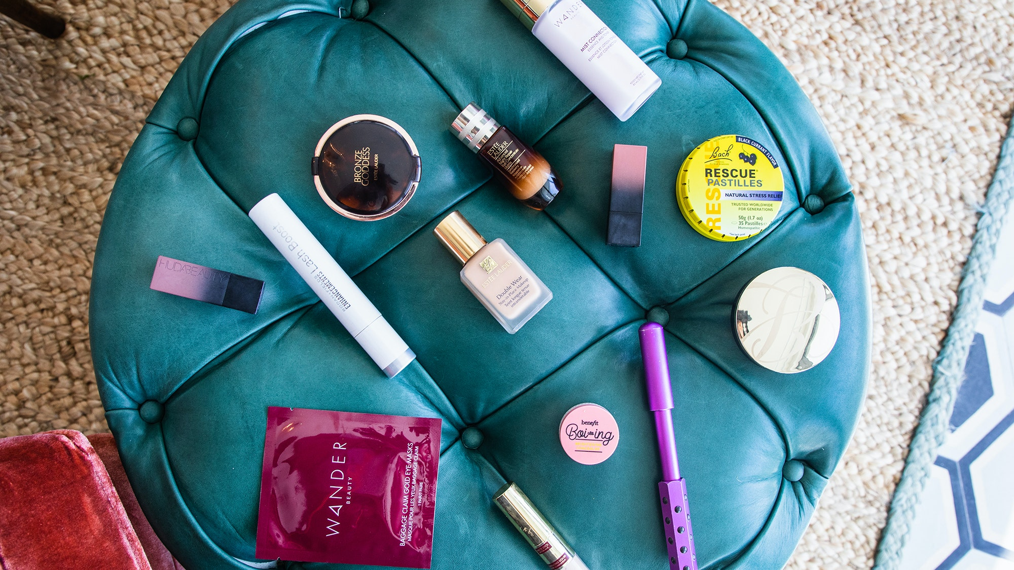Ana Quincoces makeup and skincare on futon