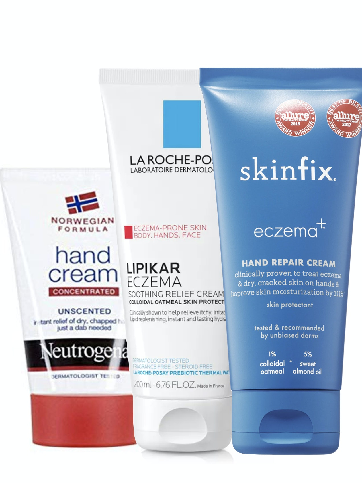 how to heal dry cracked hands use  Neutrogena La Roche-Posay SkinFix lotions